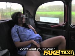 Public Blowjob Shaved video: FakeTaxi Sexy nurse wearing no knickers wants cock