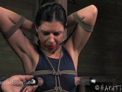 MILF India Summer Nipple Suction in Rope Bondage