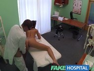 FakeHospital Doctor and nurse enjoy patients wet pussy