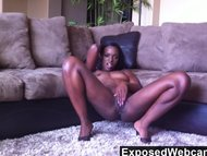 Cute Black Teen Orgasming...