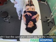 FakeHospital No health insurance causes shy patient to pay for treatment