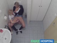 FakeHospital Lucky patient is seduced by nurse and doctor