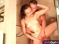 Amateur Australian couple bath