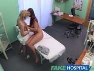 FakeHospital Both doctor and nurse give new patient thorough sexual checkov