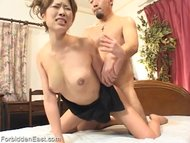 Oriental women is fucked hard from behind