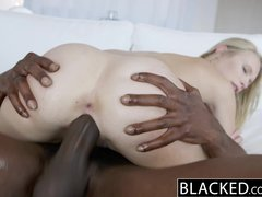 Masturbation Teen Blonde video: BLACKED Dakota James First Experience with Big Black Cock