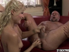Blonde Blowjob Rimming video: 5 o'clock pee party