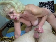 HOT Young guy fucking granny w