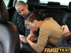 FakeTaxi Horny couple take taxi home ...