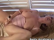 Naughty Violet masturbates her