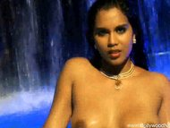 Bollywood Babe Plays In Water
