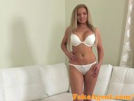 FakeAgent Stunning blonde with big tits takes Creampie in casting