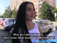 PublicAgent Stunning black haired babe gets fucked in a car