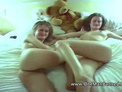 Interracial Babes British video: Fucking and licking the identical twins