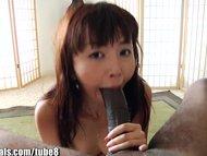 1000Facials Big black cock in petite Asian teen mouth