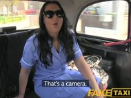 FakeTaxi British nurse fucks taxi driver in her uniform