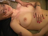 Little pregnant MILF licks Nat