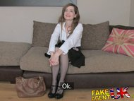FakeAgentUK Slim UK amateur get fingered rimmed and fucked on casting couch