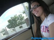 PublicAgent Jenny college teen in glasses fucked in a car