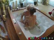 Girlfriends Seriously sexy lesbians make passionate love in bath