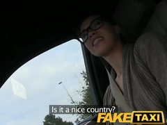 Camera Car Dogging video: FakeTaxi Stranded french tourist earns extra cash
