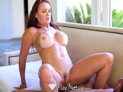 Bigtits Blowjob Bubblebath video: HD - PureMature Bathing Janet Mason gets juicy creampie