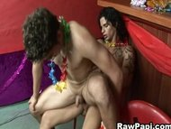 Gay Latino Party With Bareback Fucking