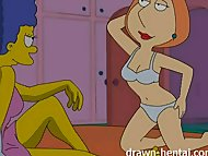 Lesbian Hentai – Marge Simpson and Lois Griffin