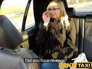 FakeTaxi Taxi driver fucks glasses blonde on backseat