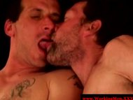 Dirty redneck dudes in masturbation