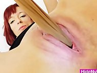 Cunt fucking in addition to nylon hose