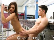 HD - FantasyHD Presley Dawson fucks a stranger at the laundromat