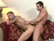 Horny tattooed gays fucking well