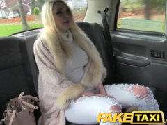 Lingerie Public Blonde video: FakeTaxi Hot blonde with sexy lingerie