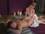 Massage Rooms Flexible blonde teen gives young stud fuck he'll never forget