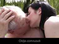 Hoary old man fucked and sucke
