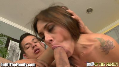 MILF Raylene Blows and Ass Fucked by Son-In-Law