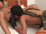 Bondage ethnic twink lovers sucking cock