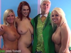 Porno video: St.Patrick's pornstar orgy party! Vol.1