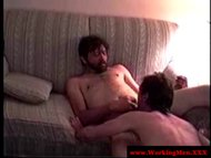 Dirty redneck getting rimjob session