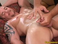 Muscular guys gay massage