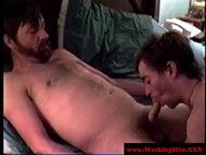 Dirty redneck enjoying blowjob session