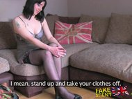 FakeAgentUK Creampie for naughty British nurse who teased agents cock
