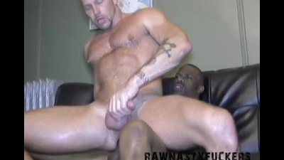 Hot Muscle Daddy Gets Pounded by Big Black Monster Cock