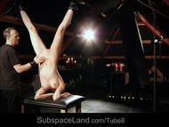 Slave girl punished for submission in BDSM