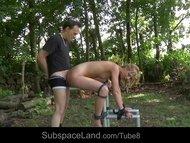Educational bondage measure tamed slave girl