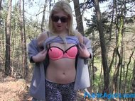 PublicAgent Sexy blonde fucking in her pink underwear