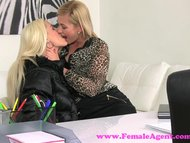 FemaleAgent. Beautiful blonde fucked hard with a strap on
