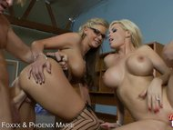 Phoenix Marie and Diamond Foxxx take hot loads in their mouth