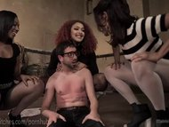 Three Hot Femdoms, One Lucky Man